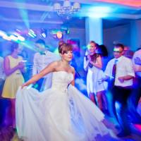 weselne tańce, kolorowe światła