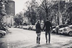 fotograf lubin, kobieta i mężczyzna na spacerze