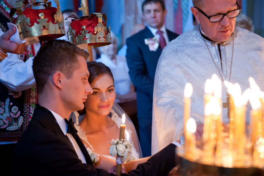 ślub prawosławny, slub w cerkwii, cerkiew, zimna woda, ślub łemkowski