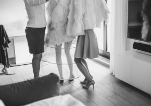 ubieranie panny młodej