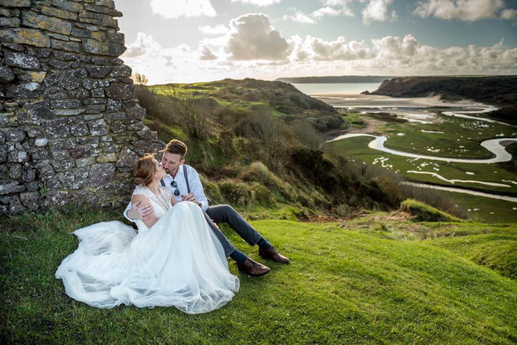 plener ślubny na wybrzeżu